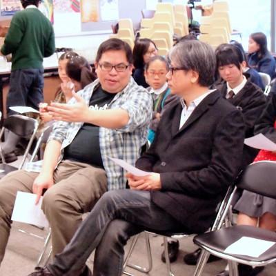 出席嘉賓交流,圖左為文化地圖董事、影評人葉堅耀先生;右為文化地圖動畫專業顧問;香港浸會大學電影學院助理教授文志華先生