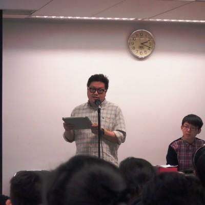 座談會暨頒獎禮主禮嘉賓香港藝術發展局視覺藝術組主席陳錦成先生致辭