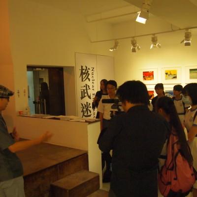 The Salt Yard,岑允逸於學生工作坊講解替代藝術空間的理念。