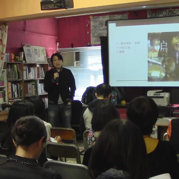 導師譚偉峰以獨立電影《偏偏》講解香港街道景觀。